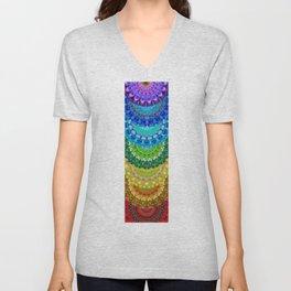 Chakra Mandala Healing Art by Sharon Cummings Unisex V-Neck