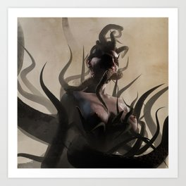 Bed of Tentacles Art Print