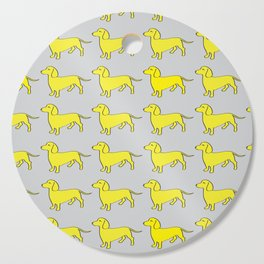 Doxie Love - Grey and Yellow Cutting Board