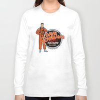 suits Long Sleeve T-shirts featuring Dr. Dave Bowman's EVA Suits by Doodle Dojo