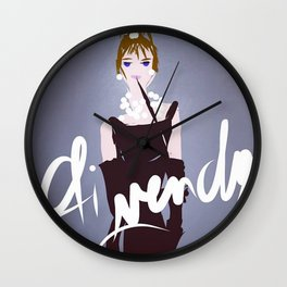 Tribute To Givenchy Wall Clock