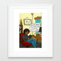kindle Framed Art Prints featuring MY Kindle  by PencilHoarder