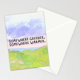 somewhere greener, somewhere warmer Stationery Cards