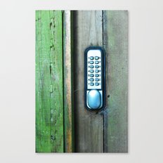 Combination Lock Canvas Print