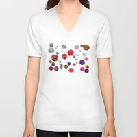 constellations V-neck T-shirts featuring Constellations by Ninola