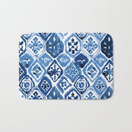 Arabesque tile art Bath Mat