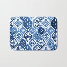 Arabesque tile art Bath Mat