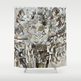 Leap - Sculpture Collage Photomontage Shower Curtain