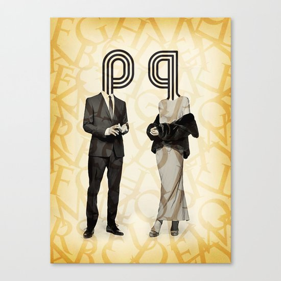 Mr P and Mrs Q Canvas Print