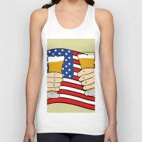 america Tank Tops featuring America by Ricki Lynn