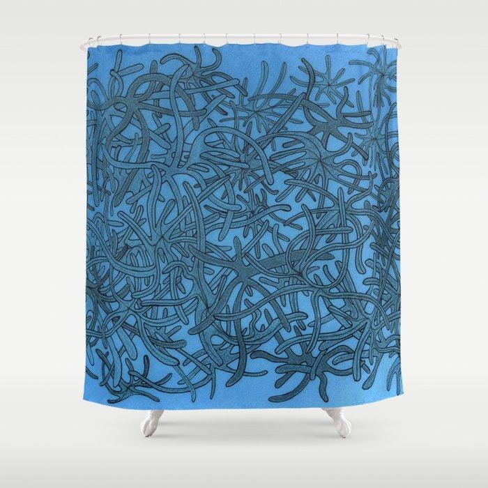 Lichen Of The Sea Shower Curtain By Christellegraveron