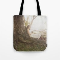 chill Tote Bags featuring Chill by Kristine Ridley