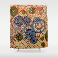 milan Shower Curtains featuring bombing Milan by Federico Cortese