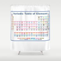 periodic table Shower Curtains featuring Periodic Table of Cute Elements -- Full by Grace T