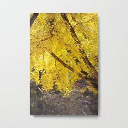 Yellow Drip Metal Print