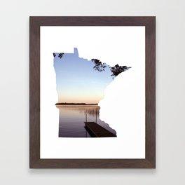 Lake Minnesota Framed Art Print