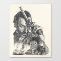 walking dead Canvas Prints featuring Walking Dead by Heather Andrewski