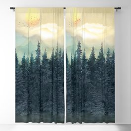 Forest Under the Sunset II Blackout Curtain