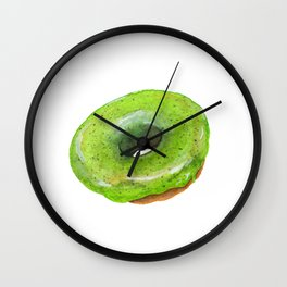 Matcha Glazed Donut Wall Clock