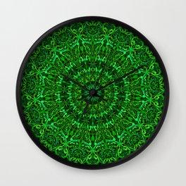 Green Spiritual Mandala Garden Wall Clock
