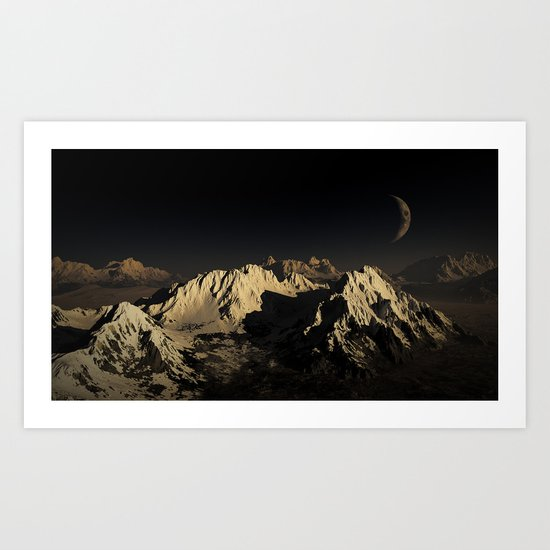 Snowy Night  Art Print