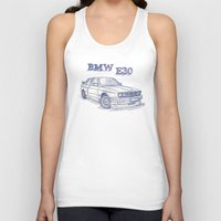 bmw Tank Tops featuring BMW E30 Fan by Jaykblu
