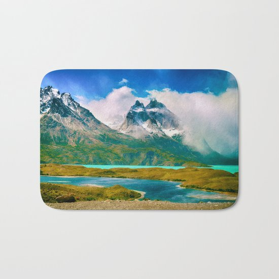 Earth, Water, Air Bath Mat