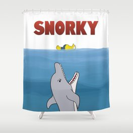 Snorky Jaws. Shower Curtain