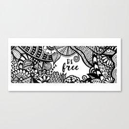 Be Free Zentangle Pattern Canvas Print