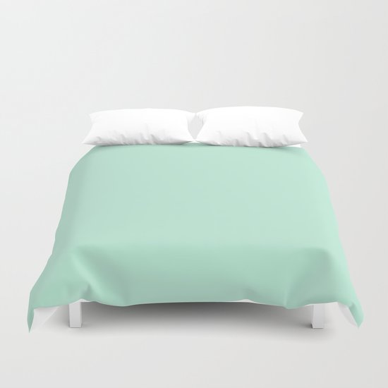 Mint Green Pastel Solid Color Block by beautifulhomes
