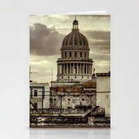 cuba Stationery Cards featuring CUBA - CAPITOLIO by mayavisual