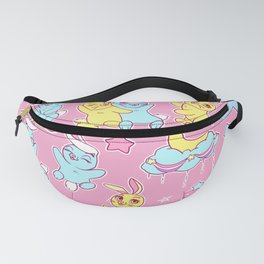 Bunny Friends on Bright Pink Fanny Pack