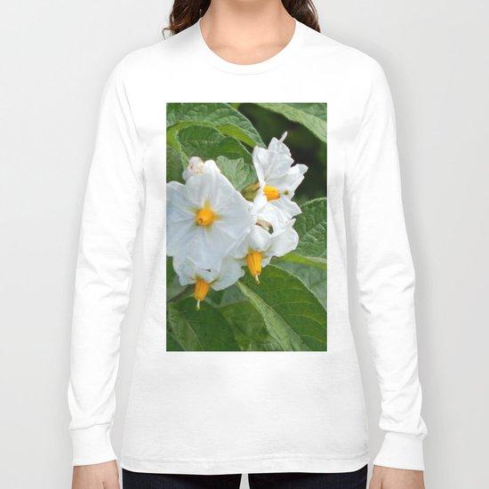 Potato Plant Flowers Long Sleeve T-shirt