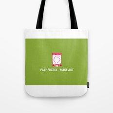 Play Futbol, Make Art Tote Bag