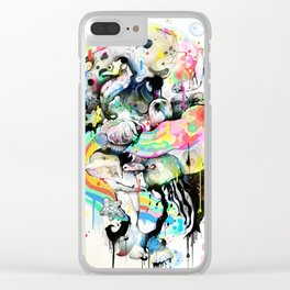 Ink Fight Colors Clear iPhone Case