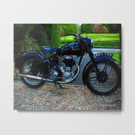 Vintage Indian Fire Arrow Motorbike - Circa 1954 Metal Print
