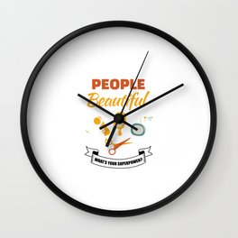 I Make People Beautiful Whats Your Superpower? For Barbers Wall Clock