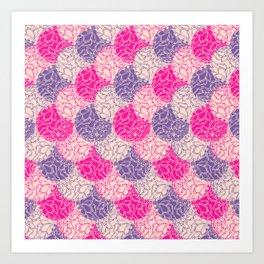 Purple + Pink Spheres Art Print