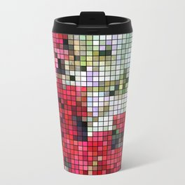 Mixed color Poinsettias 1 Mosaic Travel Mug