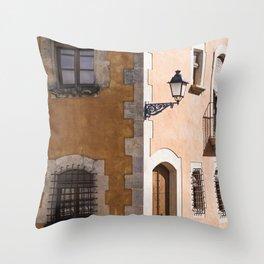 Corner House Throw Pillow