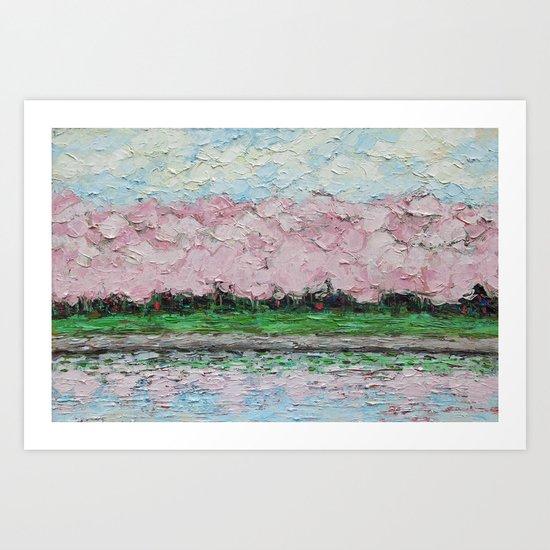 Tidal Basin Blooms Art Print