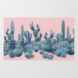Milagritos Cacti on Rose Quartz Background Rug