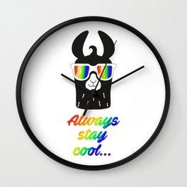 Cool llama Wall Clock