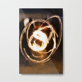 Fire in the hands Metal Print