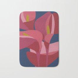 Calla pink lilies Bath Mat