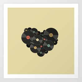 Heart of a Vinyl Lover Art Print