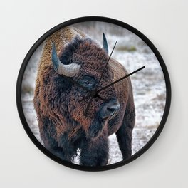 In The Presence Of Bison #society6 #decor #bison by Lena Owens @OLena Art Wall Clock