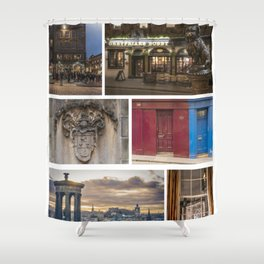 I LOVE EDINBURGH ! Shower Curtain