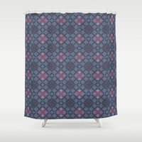 geo Shower Curtains featuring GEO  by NENE W