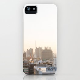 Peaceful Coffee Drinking Morning in Urban City iPhone Case